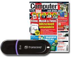 6x (8x) COMPUTER BILD + 8 GB USB-Stick 14,50€