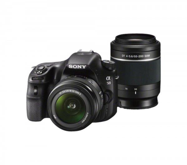 Sony SLT-A58Y SLR-Digitalkamera inkl. SAL 18-55mm & SAL 55-200mm Objektiv @Amazon