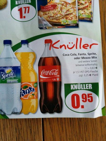 [Lokal Langscheid Frischmarkt] 1,5l 0,95€ Cola Fanta Sprite Mezzomix