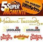 Kostenlose Eintrittskarten für Kinder & Erwachsene: Madame Tussauds (Berlin) / LEGOLAND (Billund) / LEGOLAND (Günzburg) / The Dungeons (Berlin+Hamburg) / Gardaland Resort (Gardasee) bis 31.10.2014 – Begleitperson erforderlich :-)