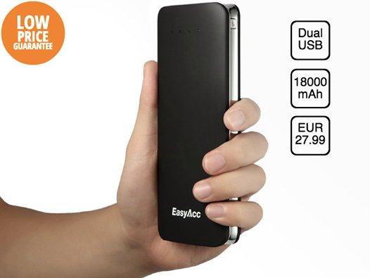 [Amazon] EasyAcc® 18000mAh Dual USB Power Bank für 27,99€ oder 18000mAh PowerBank + 5-Port USB Portables Ladegerät für 39,99€