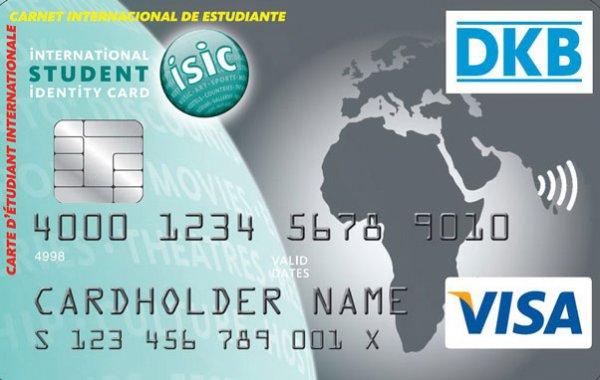 DKB Kreditkarte inkl. Student ISIC Card