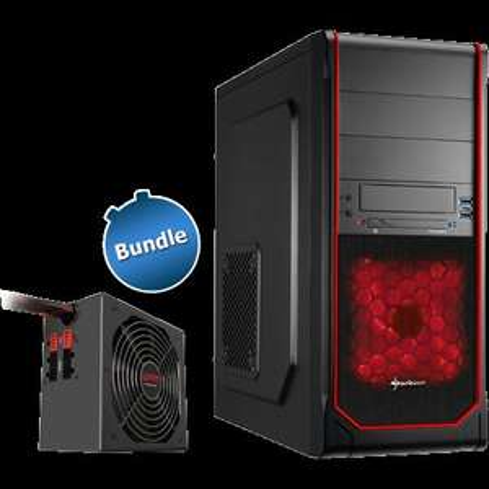"Bundle: Netzteil 600W ""WPM600 V2"" + Midi-Tower ""Sharkoon VS3-V"" (rot) @zackzack 59,90€"