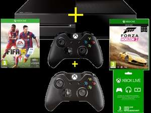 MICROSOFT Xbox ONE 500GB black + 2. Wireless Controller + FIFA 15 ( DLC) + Forza Horizon 2 +Xbox LIVE 3 Monate