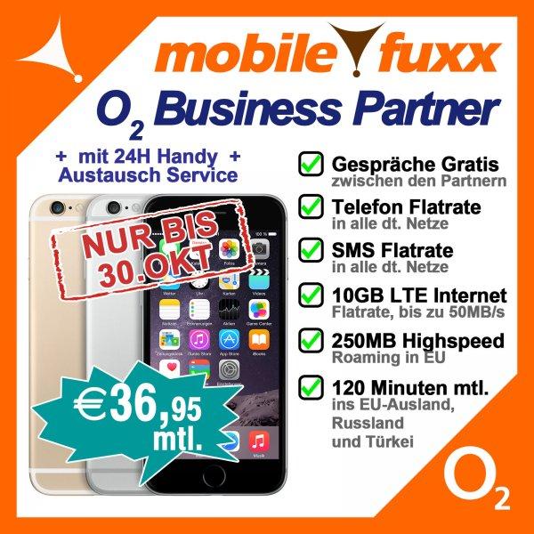 (Business) Iphone 6 16GB mit Allnet Flat/10GB LTE Internet Flat... für  36,95 mtl,6Plus für 40,28 mtl