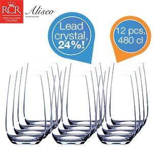 RCR CRISTALLERIA ITALIANA 12 Tumbler – Set Bleikristall Gläser mit 24% Bleikristall für 19,95€ zzgl. 5,95€ @iBOOD