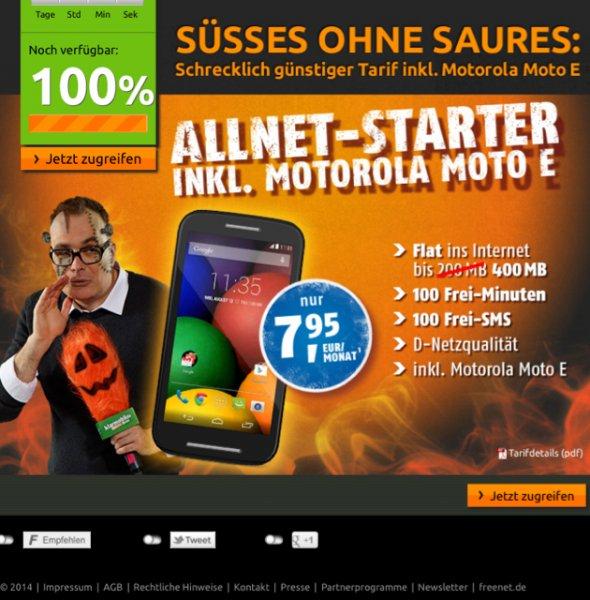 Vodafone 400 MB 100Min/SMS inkl. Moto E @crash