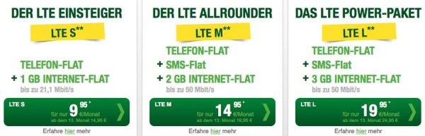 1 GB o2 LTE + Allnet Flat monatl. kündbar 19,95€ direkt bei smartmobil (Mit Laufzeit billiger)