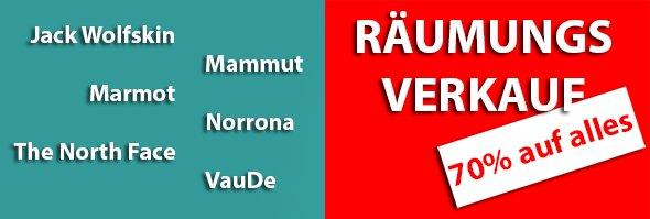 finnmark-outlet.de schließt! - 70% auf viele Produkte: Jack Wolfskin, Mammut und Vaude,....