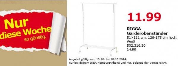 IKEA Hamburg Altona RIGGA Garderobenständer in weiß für 11,99 (statt 14,99)