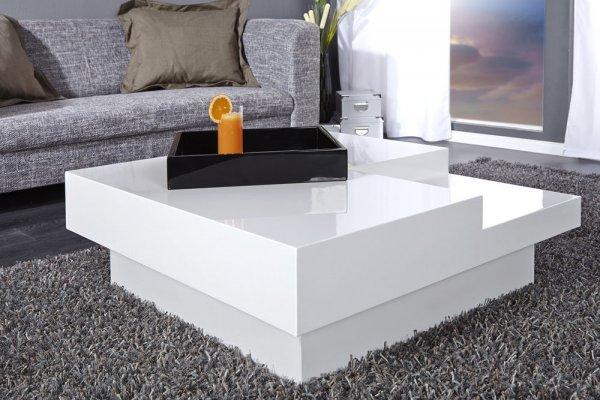 [Thema Möbel] Design Couchtisch CUEBASE hochglanz Lack weiss Sofatisch highgloss Tisch weiß @WOW zu 119,95€ inkl. VSK