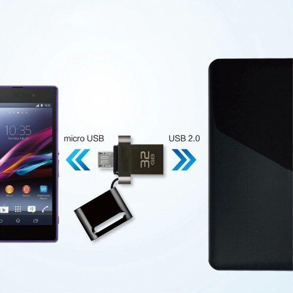 Dual USB OTG 64gb - kleiner Bauform schickes Design.