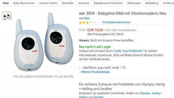Reer 3004 Midi Babyphone  @ Amazon (Marketplace) für 15,40 Euro