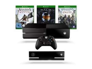 Xbox One Konsole + Kinect inkl. Assassin's Creed Unity und Black Flag (DLC) +  Halo - The Master Chief Collection