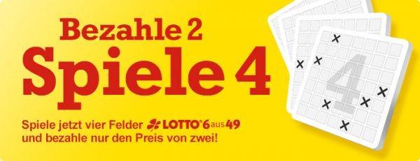 Lottohelden: 4 Tippfelder zum Preis von 2