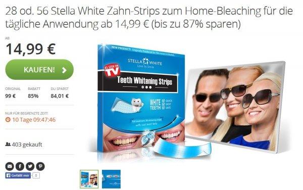 28 Stella White Zahn-Strips zum Home-Bleaching für die tägliche Anwendung ab 14,99 €