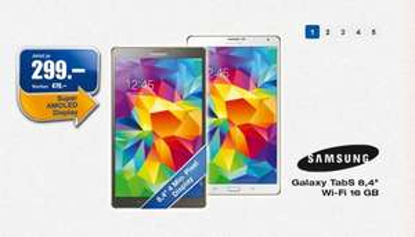 "[LOKAL] Schweiz Melectronics | Samsung Galaxy Tab S 8.4"" Amoled 16GB Titanium Bronze oder weiss für 249,99 €"