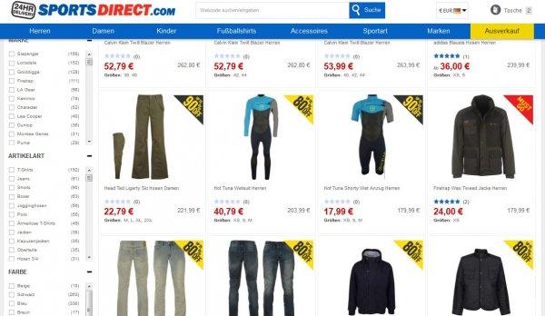 80% - 90% Sale bei SPORTSDIRECT / Extrem viele Angebote