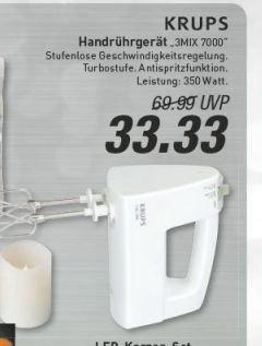 [Marktkauf evtl. nur regional MünSter, ab Do. 23.10.] Krups Mixer für 33,33€ (Idealo 50,99