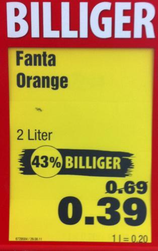 [Penny München] FANTA Zero Orange 2L für 0,39€