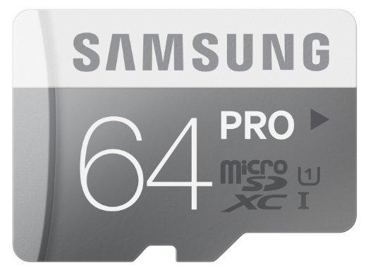 Blitzangebot: Samsung Memory 64GB PRO MicroSDXC UHS-I Grade 1 Class 10 bei amazon