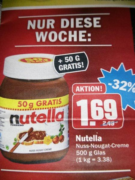 Nutella 500 g für 1.69 bei Hit, bundesweit?