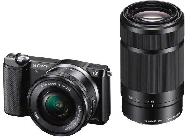 [amazon.fr] Sony Alpha 5000 - schwarz - Digitalkamera + 16-50 mm-Objektiv + 55-210 mm-Objektiv inkl. Vsk für 485,44 €