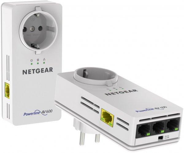 [Blitzangebot] Netgear Powerline 600 PassThru 4-Port-Adapter für 80€ @Amazon