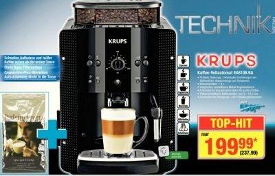 Krups Kaffee-Vollautomat EA 8108 [bei Metro] für 237.99€ +1KG Bohnen - nur noch bis 22.10