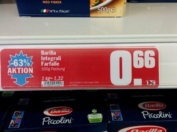 [Lokal? Koblenz Hit Markt] Barilla Nudeln stark reduziert