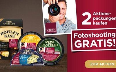 2 Castello Produkte kaufen & an einem professionellen Fotoshooting teilnehmen.
