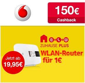[Qipu] Vodafone DSL Zuhause Paket M für nur 19,95€ / Monat+ 150€ Cashback- efffektiv 14,57€ pro Monat!