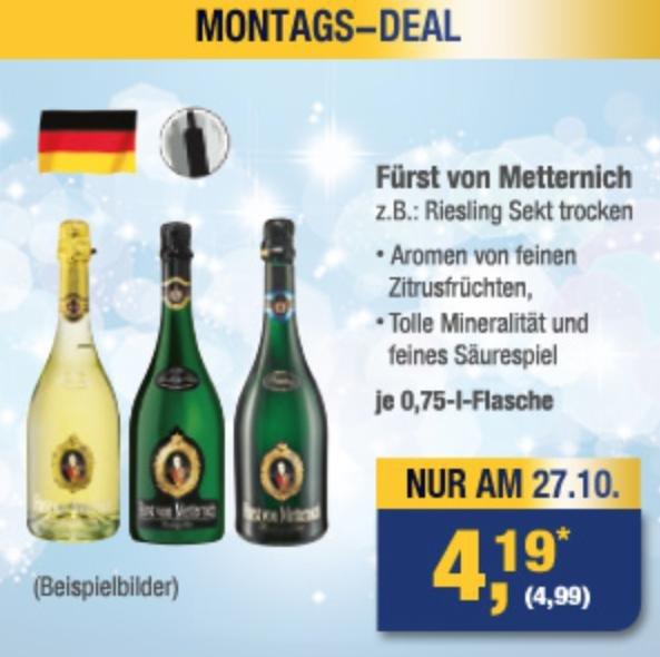 [Metro] Fürst von Metternich Riesling Sekt trocken! Nur am 27.10.2014 4,99€ (4,19€)