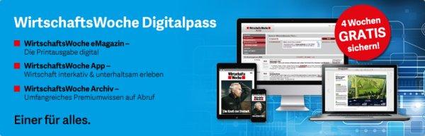 4 Wochen WirtschaftsWoche Digitalpass