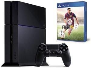 Sony PlayStation 4 500GB Bundle inkl. Fifa 15 (PS4) schwarz @computeruniverse mit Qipu Nur 391€