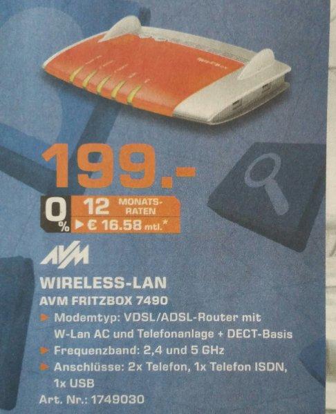[LOKAL Saturn Hagen] AVM Fritzbox 7490 WLAN Router für 199€
