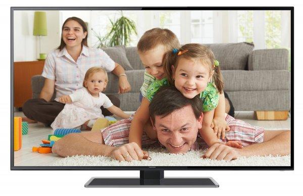 Amazon: Thomson 48FZ3233 122 cm (48 Zoll) LED-Backlight Fernseher, EEK A+ (Full HD, 100Hz CMI, DVB-C/T, 2x HDMI, CI+, 2x USB 2.0, SCART, Glasfuß, Hotelmodus) schwarz @ 499,97 Euro inkl. Versand