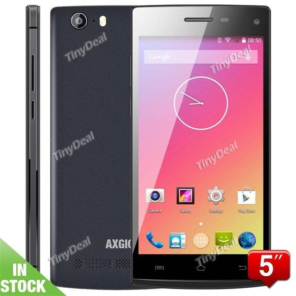 "AXGIO Neon N2Q 5 (5"" qHD, 8 MP, Octa Core 1,4GHz, 1GB Ram, Android 4.4) für 109,51€ @Tinydeal"