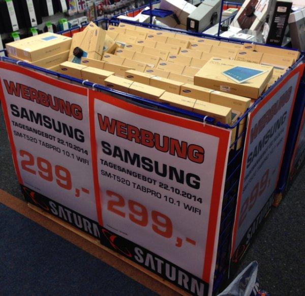 """Samsung SM-T520 TabPro 10.1"""" statt 349,- für Tagesangebot 299,-€ im Saturn Köln Hansaring"""