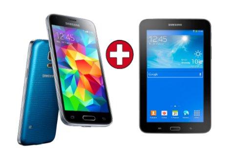 [mediamarkt.de Tiefpreis Spätschicht] SAMSUNG Galaxy S5 mini 16GB electric-blau/gold/weiß inkl. Tab 3 7.0 Lite schwarz inkl. Vsk für 333 €