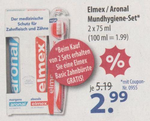 (Offline) SCHLECKER Elmex / Aronal Mundhygiene-Set - 2x75ml