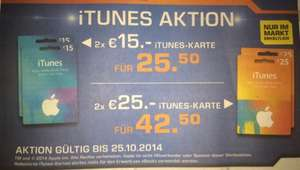 iTunes -15% bei Saturn