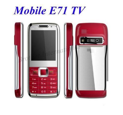 Quadband Handy mit 12,1MP E71 Rot