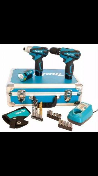 Makita Akku-Combo-Kit 10,8 V LCT303X2 im Koffer mit TD090, DF330D und ML100 @ebay