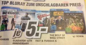 [lokal MediMax Berlin Ringcenter] Blu-Rays für je 5 EUR - Bad Neighbors, The Wolf of Wall Street und weitere