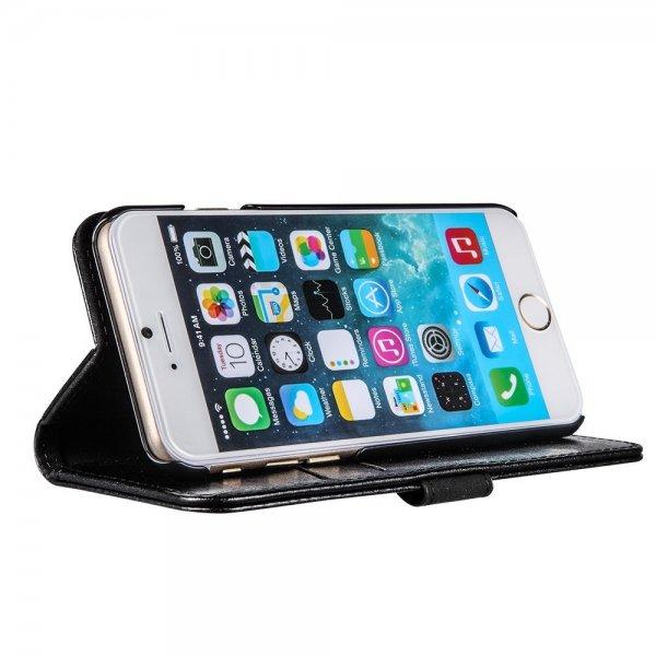 "EasyAcc® iPhone 6 4.7"" Wallet Case mit Standfunktion (Kunstleder, Schwarz)"
