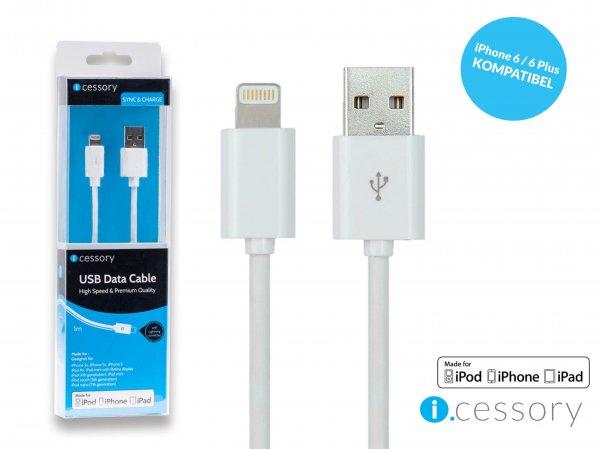 [eBay] Lightning Kabel - Original Apple zertifiziert - 1m weiß