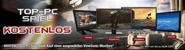 Einen von 4 ausgewählten Viewsonic Monitoren kaufen und ein Spiel im Wert von bis zu 59,99 umsonst bekommen