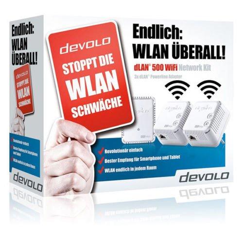 Devolo dLAN 500 WiFi Network Kit Powerline-Adapter @ebay 99€