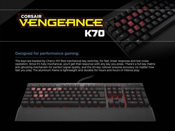 Corsair Vengeance K70 MX RED für 104,85 inkl. VSK
